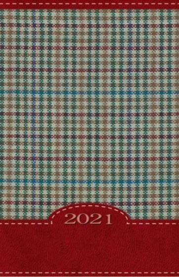 Terminarz B7 Kolorowy - kratka czerwona