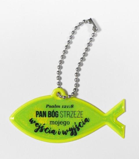 Brelok rybka - Pan Bóg strzeże mojego wejścia i wyjścia
