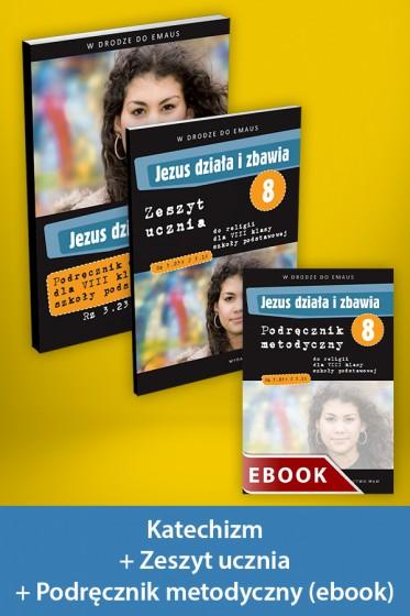 Jezus działa i zbawia Pakiet z ebookiem dla katechetów do klasy 8 szkoły podstawowej
