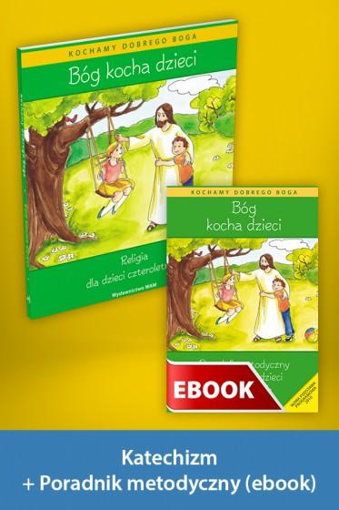 Bóg kocha dzieci Pakiet z ebookiem dla katechetów dla dzieci czteroletnich