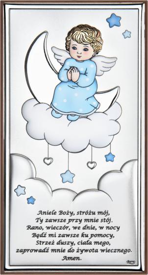 Aniołek na chmurce niebieski DS35/2CC