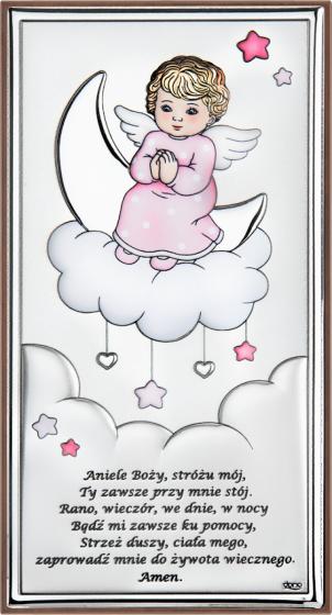 Aniołek na chmurce różowy DS35/2CR