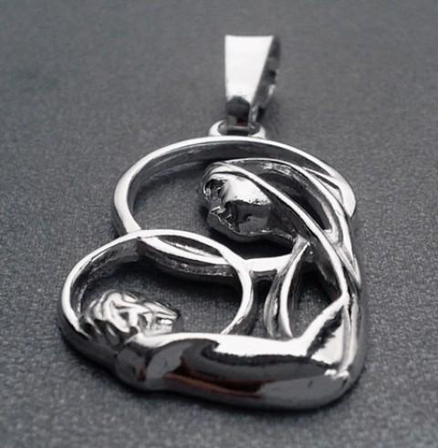 Matka Boża z Dzieciątkiem - zawieszka srebrna MO2