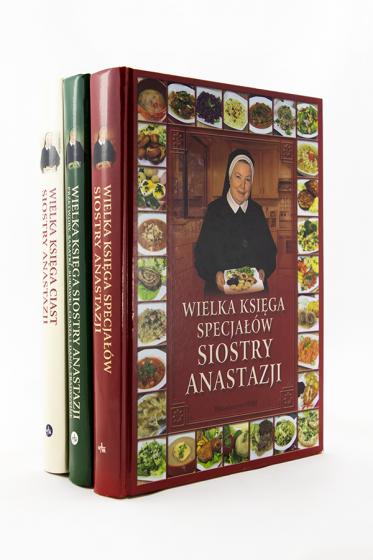 Wielka księga ciast + Wielka księga specjałów + Wielka księga s. Anastazji