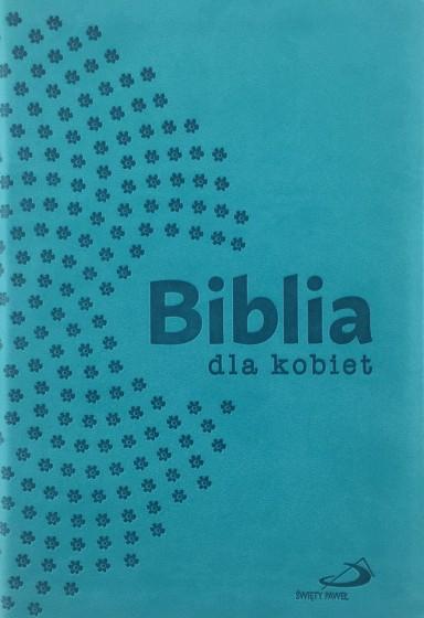 Biblia dla kobiet turkusowa z suwakiem złocona