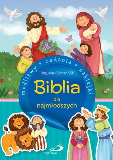Biblia dla najmłodszych Modlitwy, zadania, naklejki