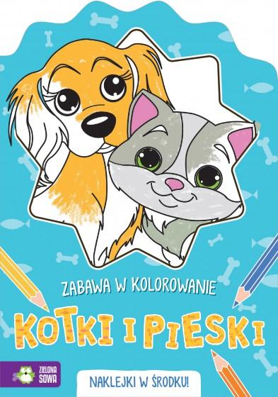 Pieski i kotki Zabawa w kolorowanie