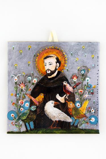 Święty Franciszek - kafelek mały