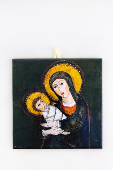 Matka Boża z Dzieciątkiem - kafelek średni