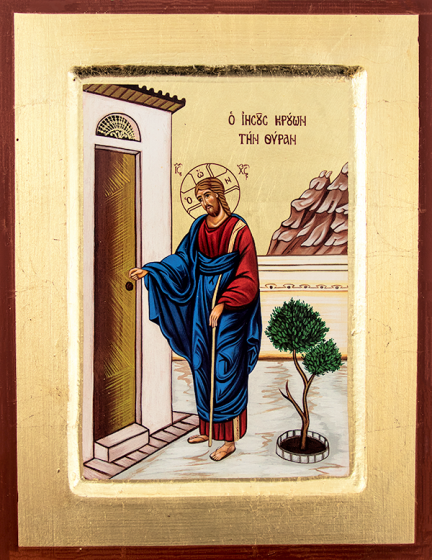 Ikona - Chrystus pukający do drzwi