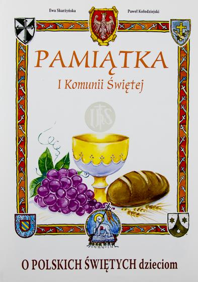 O polskich świętych dzieciom / okładka komunijna