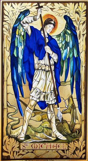 Święty Michał Archanioł - obraz / wysoki