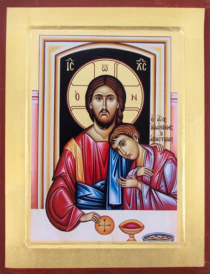 Ikona - Chrystus i Święty Jan mała