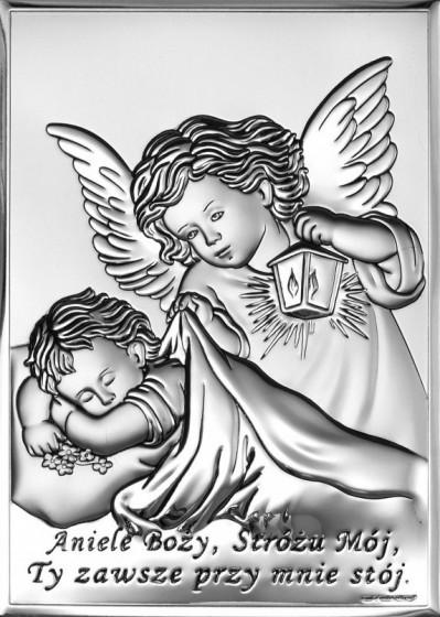 Aniołek z latarenką nad dzieciątkiem 6442/2X
