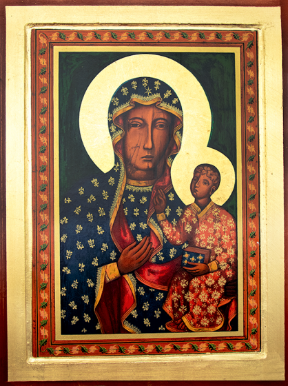 Ikona Matka Boża Częstochowska bardzo duża