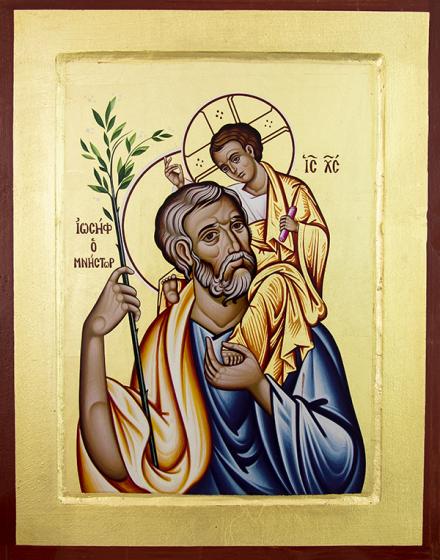 Ikona Święty Józef / wzór 2 lilijka duża