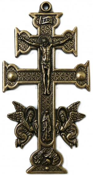Krzyż karawaka metalowy, wiszący