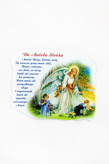 Magnes z modlitwą do Anioła Stróża