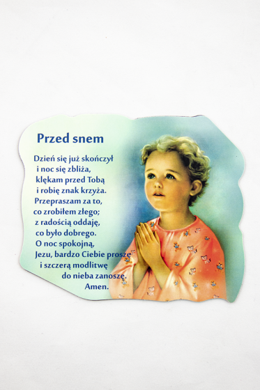 Magnes z modlitwą przed snem
