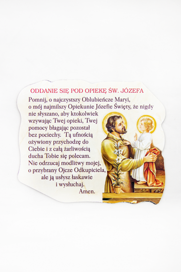 Magnes z modlitwą oddania się pod opiekę św. Józefa