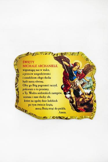 Magnes z modlitwą do św. Michała Archanioła