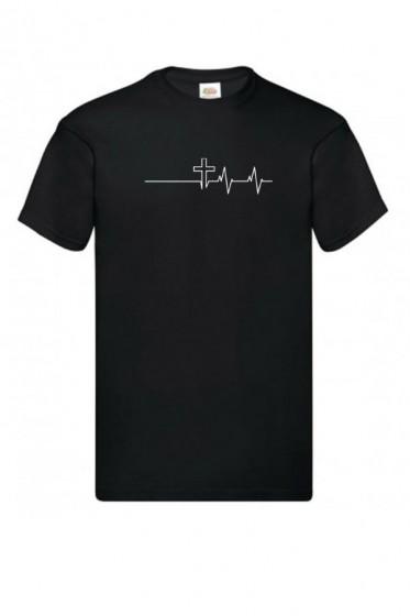 Koszulka - Wykres - krzyż czarny S