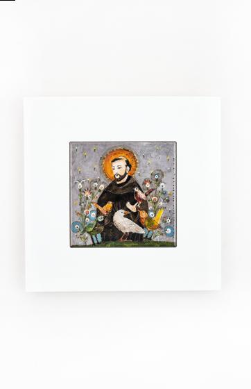 Święty Franciszek - kafelek w ramce