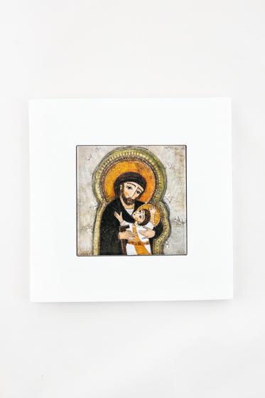 Święty Józef - kafelek w ramce