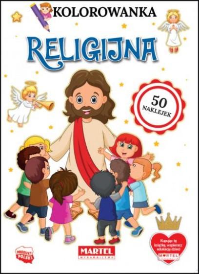 Kolorowanka religijna 50 naklejek