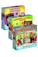 Sakramenty święte - zestaw puzzli - ,