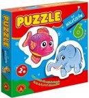 Puzzle dla maluszków ryba + słoń - ,