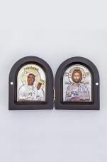 Ikona Matka Boża Częstochowska i Chrystus Pantokrator Dyptyk - ,