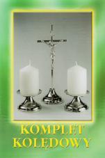 Komplet kolędowy krzyż prosty srebrny - srebrny,