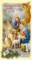 Obrazki kolędowe - Święta Rodzina Gloria in excelsis Deo! - 100 sztuk,