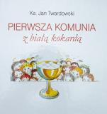 Pierwsza Komunia z białą kokardą - , ks. Jan Twardowski