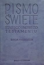 Pismo Święte Starego i Nowego Testamentu / travel niebieskie - BibliaTysiąclecia,