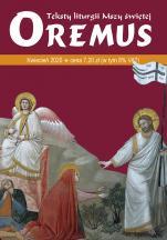 Oremus Kwiecień 2020 - Teksty liturgii Mszy Świętej,
