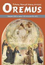 Oremus Sierpień 2020 - Teksty liturgii Mszy Świętej,