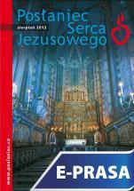 Posłaniec Serca Jezusowego - sierpień 2012 - , Ks. Stanisław Groń SJ (red.nacz.)