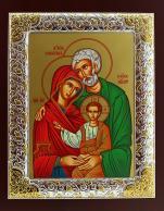 Ikona Święta Rodzina zielona(S) prosta - ,