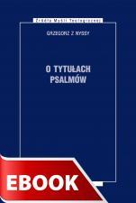 O tytułach psalmów - , Grzegorz z Nyssy
