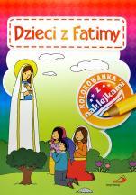 Dzieci z Fatimy. Kolorowanka z naklejkami - ,