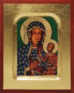 Ikona Matka Boża Częstochowska (bardzo mała) - ,