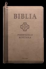 Biblia pierwszego Kościoła (na zamek, brązowa) - ,