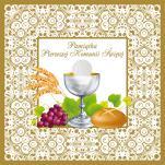 Pamiątka Pierwszej Komunii Świętej złocona duża - ,