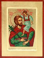Ikona Święty Krzysztof zielony mała - ,