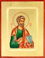 Ikona Święty Piotr Apostoł zielona mała - ,