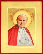 Ikona Święty Jan Paweł II mała - ,