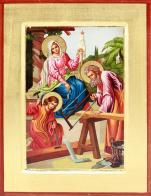 Ikona Święta Rodzina kolorowa średnia - ,
