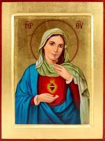 Ikona Serce Matki Bożej mała - ,